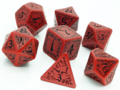 Red & Black Elven Dice Set